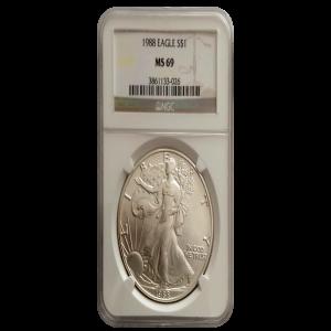 1988 MS 69 American Silver Eagle