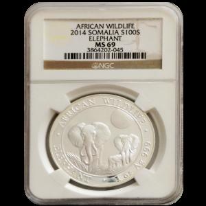 2014 MS 69 Somalia Elephant